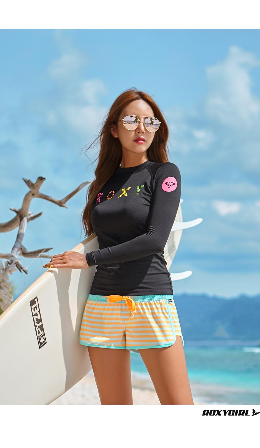 록시(ROXY) 여성 래쉬가드 RX287BWT