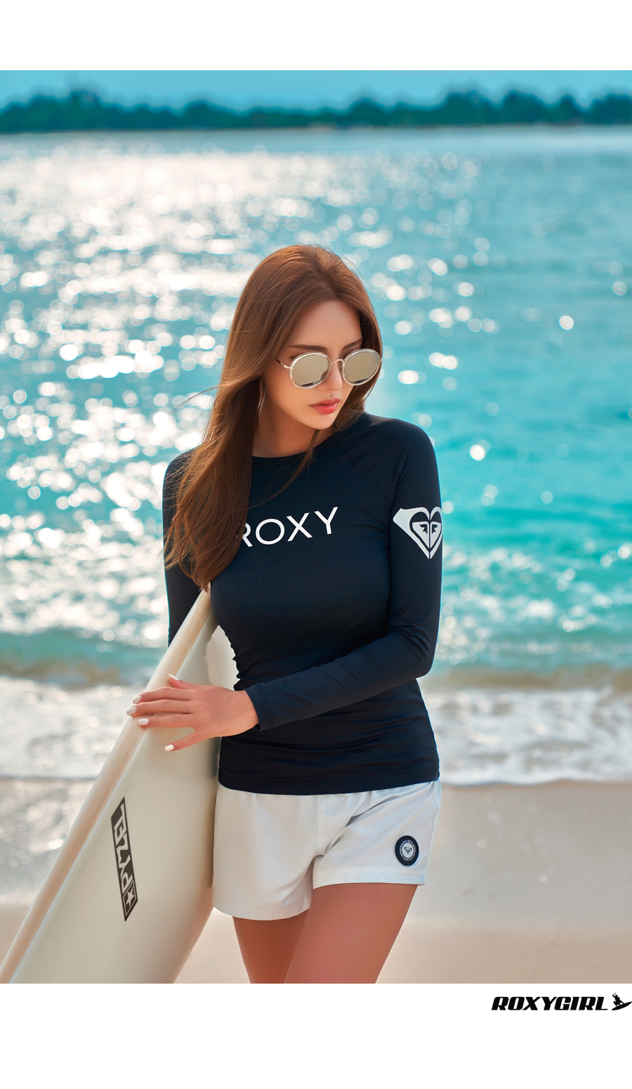 록시(ROXY) 여성 래쉬가드 RX624BWT